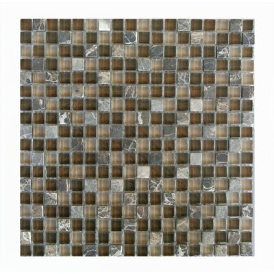 Quartz 0.63 x 0.63 Glass and Stone Mosaic Tile in Di pietra