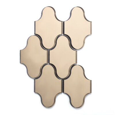 Echo Swag Backsplash 3.5 x 5.13 Mirror Glass Mosaic Tile in Gold