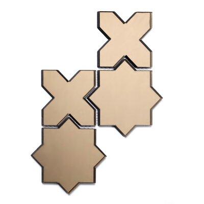 Echo Celestial Backsplash 6 x 6 Mirror Glass Mosaic Tile in Gold