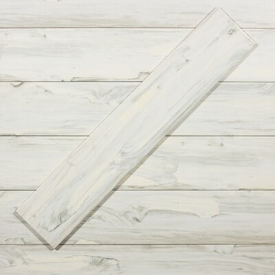 Artisan Wood 8 x 40 Ceramic Wood Look Tile in White Oak