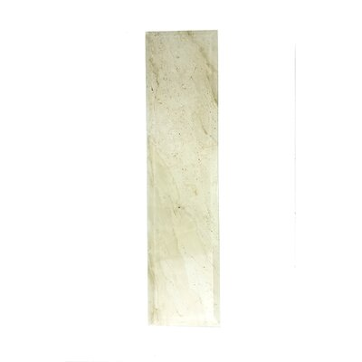 Nature 4 x 16 Beveled Glass Subway Tile in Creme/Brown Veins
