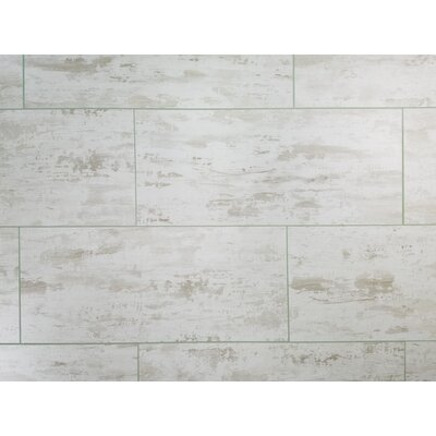 Nature 7 x 16 Glass Subway Tile in Gray/White