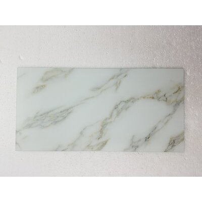 Nature 8 x 16 Glass Subway Tile in Gold Veins/Gray
