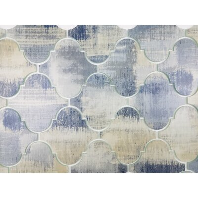 Nature Big Latern 5.63 x 5.63 Glass Patterned Tile in Cement Blue/Gray