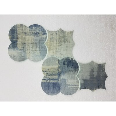 Nature Big Bang 6 x 6 Glass Patterned Tile in Cement Blue/Tan
