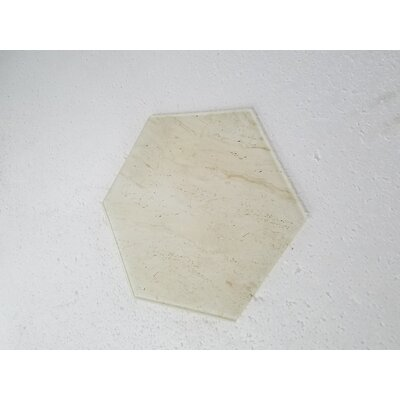 Nature 8 x 8 Glass Hexagon Tile in Crema Marfil/Tan