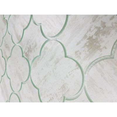 Nature Big Bang 6 x 6 Glass Patterned Tile in Birchwood White/Tan