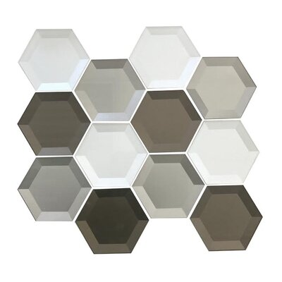 Secret Dimensions 3 x 3 Glass Mosaic Tile in Warm Gray