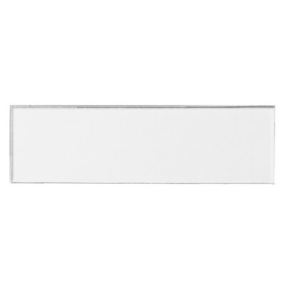Secret Dimensions 3 x 12 Glass Subway Tile in Frosted White