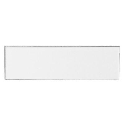 Secret Dimensions 3 x 12 Glass Subway Tile in Eternal White