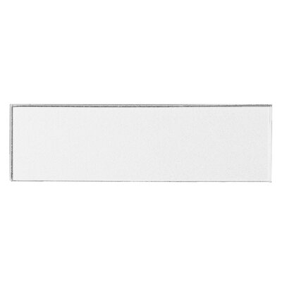 Secret Dimensions 3 x 12 Glass Subway Tile in Glossy White