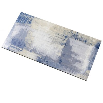 Nature 8 x 16 Glass Subway Tile in Cement Blue/Gray