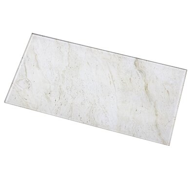 Nature 8 x 16 Glass Subway Tile in Creme/Brown Veins