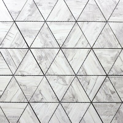 Nature Small Latern 5.5 x 4 Glass Subway Tile in Gray/Tan