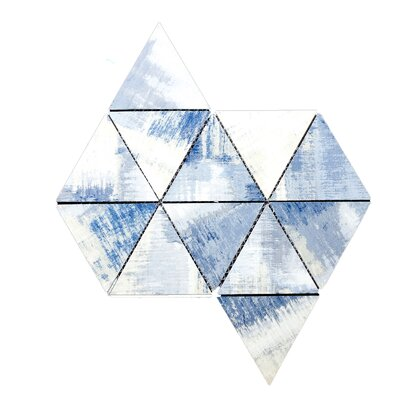 Nature 16.25 x 12 Glass Triangle Tile in Cement Blue/Gray