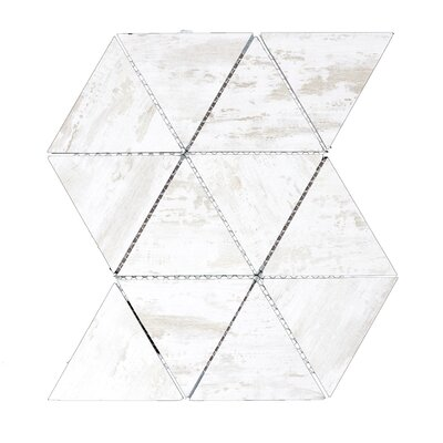 Nature 11.75 x 12.25 Glass Tile in Birchwood White/Tan