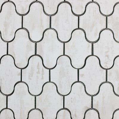 Nature Swag 3.5 x 5.13 Glass Subway Tile in Birchwood White/Tan