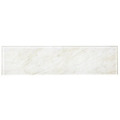 Nature 4 x 16 Glass Subway Tile in Mafil Creme
