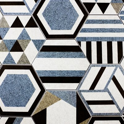 Fabrica Hexagon 8 x 8 Ceramic Field Tile in Blue