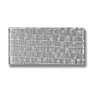 "Metro 3"" X 6"" Glass Subway Tile In Pebble"