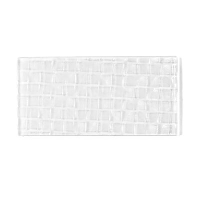 Metro 3 x 6 Glass Subway Tile in Snow