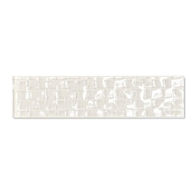 Metro 2 x 8 Glass Subway Tile in Cream