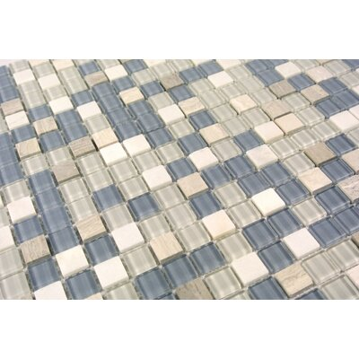 Crystal Stone 0.63 x 0.63 Glass Mosaic Tile in Glazed Angle Feather
