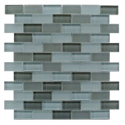 Free Flow 1 x 2 Glass Mosaic Tile in Turquoise