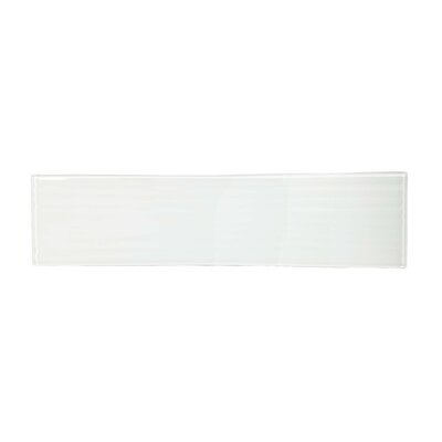 Monroe 4 x 16 Glass Wood Look/Field Tile in White