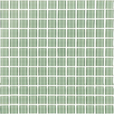 Metro 1 x 1 Glass Mosaic Tile in Celery