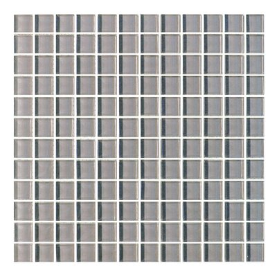 Metro 1 x 1 Glass Mosaic Tile in Dark Gray