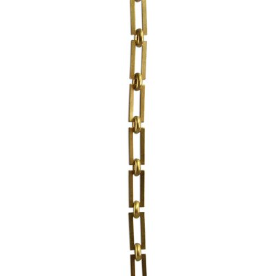Rectangle Square Edge Un-Welded Link Solid Brass Chain