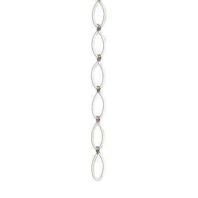Sleek Oval Un-Welded Link Solid Brass Chain Finish: Matte Silver