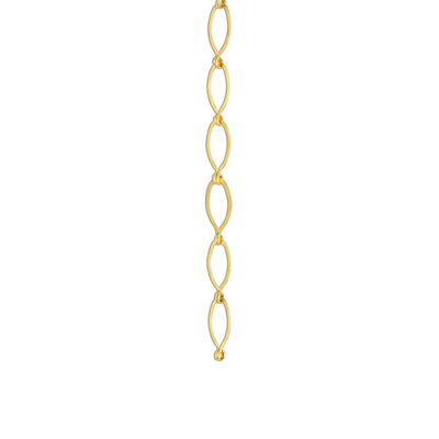 Sleek Oval Un-Welded Link Solid Brass Chain Finish: Gold