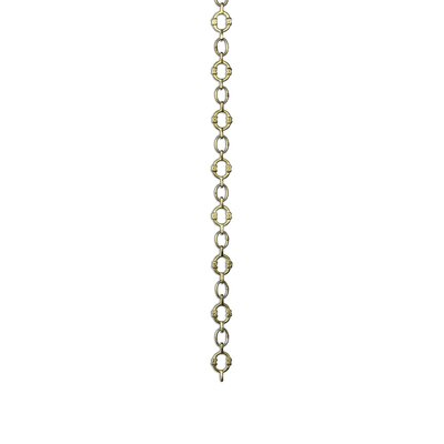 X Design Welded Link Solid Brass Chain Finish: Polished Brass