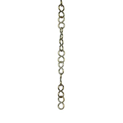 S-Shaped Un-Welded Link Solid Brass Chain Finish: Polished Brass