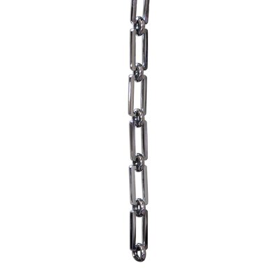 Rectangle Hinge Solid Brass Chain Finish: Polished Nickel