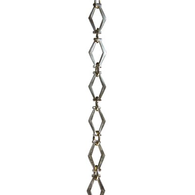 Hexagonal Un-Welded Link Plain Solid Brass Chain Finish: Polished Brass