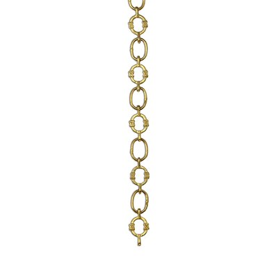 X Design Welded Link Solid Brass Chain Finish: Acid Dipped