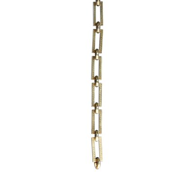 Rectangle Un-Welded Link Solid Brass Chain Finish: Polished Brass