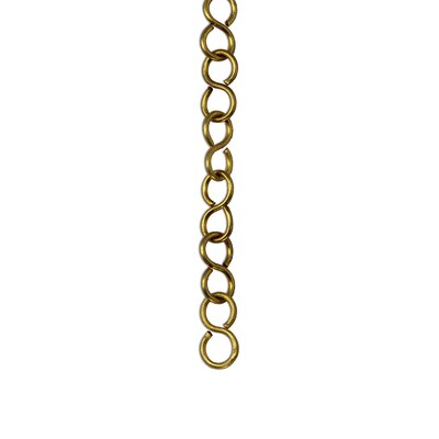 S-Shaped Un-Welded Link Solid Brass Chain Finish: Acid Dipped