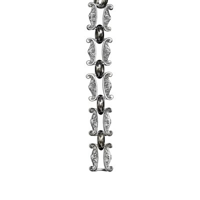 Motif Un-Welded Link Solid Brass Chain Finish: Polished Nickel