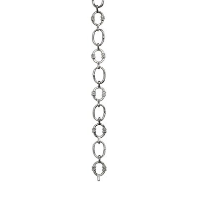 X Design Welded Link Solid Brass Chain Finish: Polished Nickel