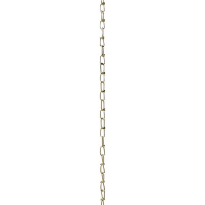 Double Loop Lighting Fixture Chain Break Finish: Polished Brass, Size: 1.25 H x 0.35 W x 0.07 D