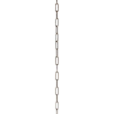 Oval Link Lighting Fixture Chain Break Finish: Polished Nickel, Size: 1.22 H x 0.83 W x 0.19 D