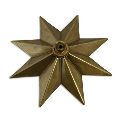 Star Shaped Ceiling Medallion Finish: Antique Brass