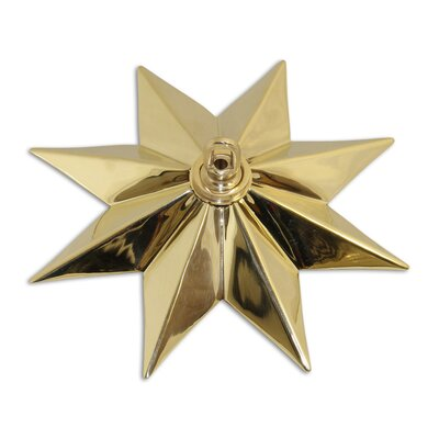 Star Shaped Ceiling Medallion Finish: Polished Brass