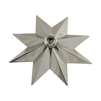Star Shaped Ceiling Medallion Finish: Polished Nickel