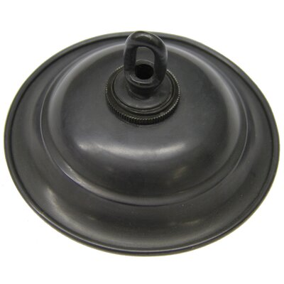 Round Ceiling Medallion Canopy Finish: Black