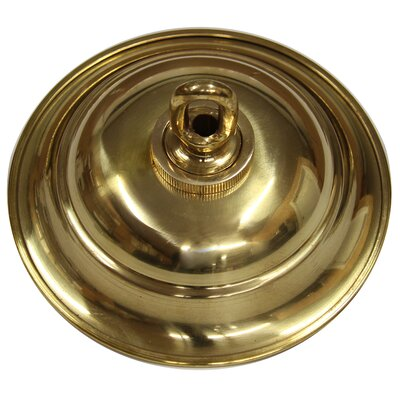 Round Ceiling Medallion Canopy Finish: Gold